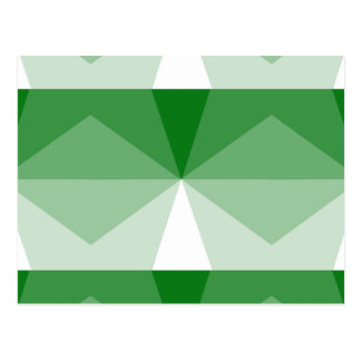 Gradient Cube  Kelly Green to White Postcard