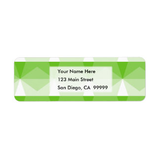 Gradient Cube  Lime Green to White Return Address Label