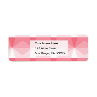 Gradient Cube Pink to White Return Address Label