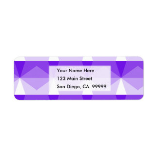 Gradient Cube  Purple to White Return Address Label