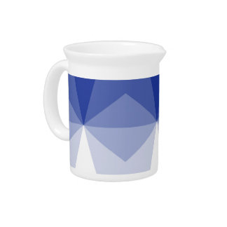 Gradient Cube  Royal Blue to White Pitchers
