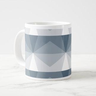 Gradient Cube  Slate Blue to White Large Coffee Mug