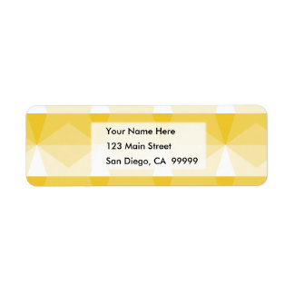 Gradient Cube  Yellow to White Return Address Label