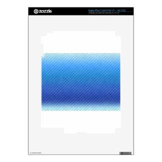 GRADIENT DARK BLUE STRIPES SKIN FOR iPad 3