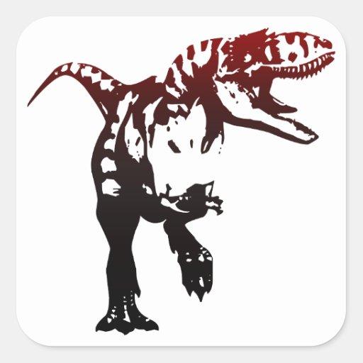 Gradient Dino Square Sticker