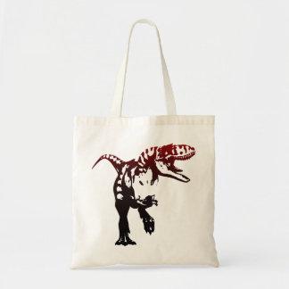 Gradient Dino Tote Bag