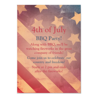 Gradient Flag 4th Of July Party Invitation at Zazzle