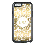 Gradient Gold Damask Texture OtterBox iPhone 6/6s Case