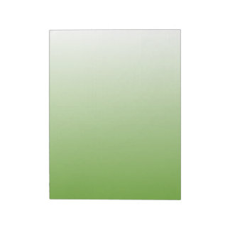 Gradient Green and White Notepad