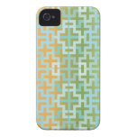 Gradient Green Orange Plus iPhone 4 Case