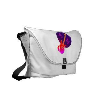 gradient guitar purple gradient circle clefs messenger bags