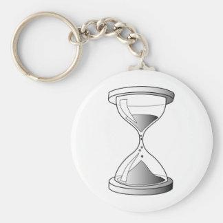 Gradient Hourglass Basic Round Button Keychain