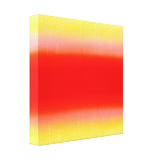 Gradient in Red and Yellow Canvas Print