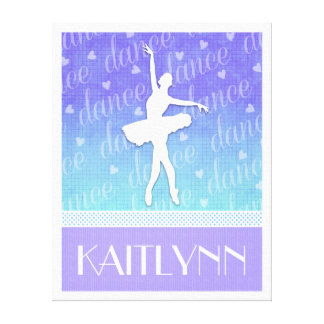 Gradient of Blue - Ballerina Passionate Dancer Canvas Print