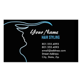 Gradient Outline Hair Stylist Business Card