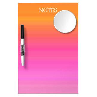 Gradient Pink and Orange Dry-Erase Whiteboard