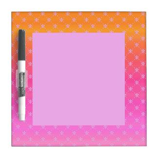 Gradient Pink and Orange Fleur de lis Dry-Erase Boards