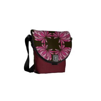 Gradient Pink Clover Flower on Brown Bag