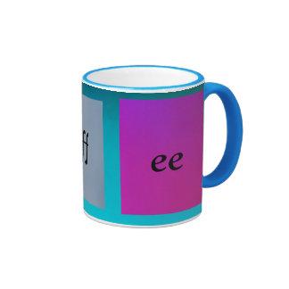 Gradient Pink Purple And Greenish Blue Coffee Mug