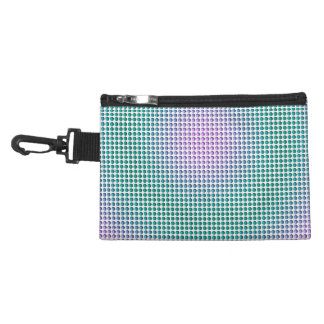 Gradient pink teal turquoise polka dots pattern accessory bags