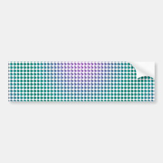 Gradient pink teal turquoise polka dots pattern bumper sticker