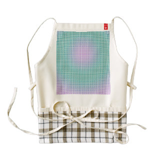 Gradient pink teal turquoise polka dots pattern zazzle HEART apron