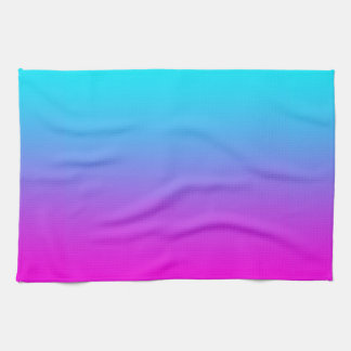 Gradient Pink to Blue Gradation Hot Pink Sky Blue Kitchen Towel