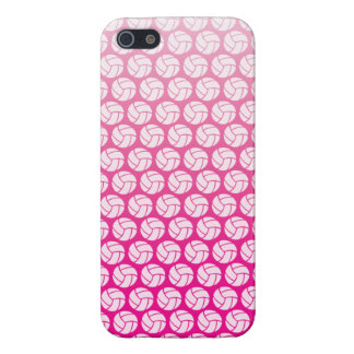 Gradient pink volleyball case for iPhone 5