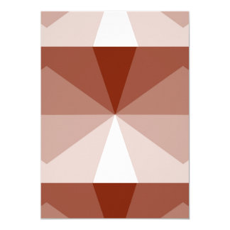 Gradient Pinwheel Cube Rust to White Card