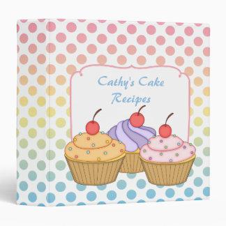 Gradient Polka Dot Cupcake Recipe 3 Ring Binder
