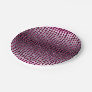 Gradient Polka Dots Pattern Paper Plate
