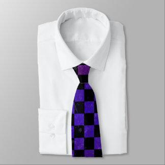 Gradient punk checkerboard pattern tie