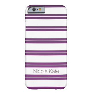 gradient purle stripes monogram barely there iPhone 6 case