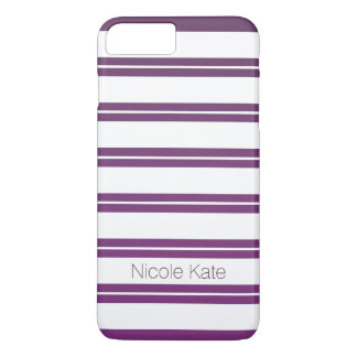 gradient purle stripes monogram iPhone 8 plus/7 plus case