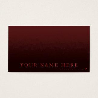 Gradient Red City Plain Card