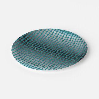 Gradient Silver Polka Dots Pattern Paper Plate