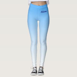 Gradient Sky Light Pastel Blue Leggings