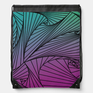 Gradient Spiral Pattern on a Backpack