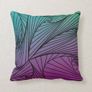Gradient Spire Pattern on a Pillow