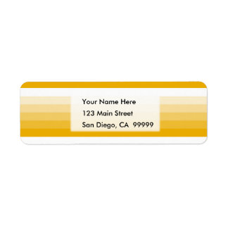 Gradient Square Gold  to White Return Address Label