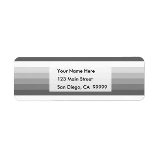 Gradient Square Grey  to White Return Address Label