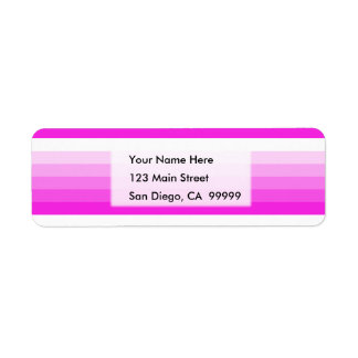 Gradient Square Hot Pink  to White Return Address Label