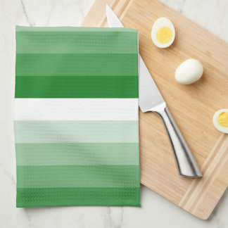 Gradient Square Kelly Green to White Kitchen Towels
