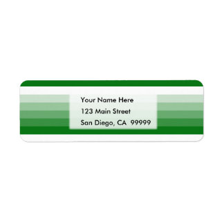 Gradient Square Kelly Green to White Return Address Label