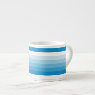 Gradient Square Light Blue  to White Espresso Mug