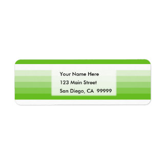 Gradient Square Lime Green to White Return Address Label