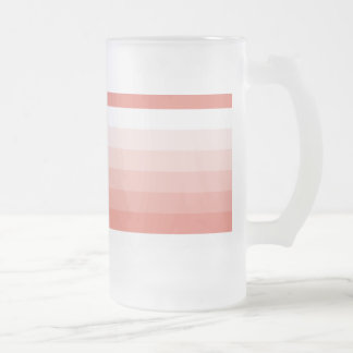 Gradient Square Peach to White Frosted Glass Beer Mug