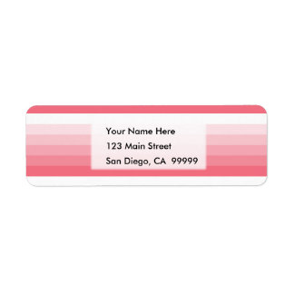 Gradient Square Pink to White Return Address Label