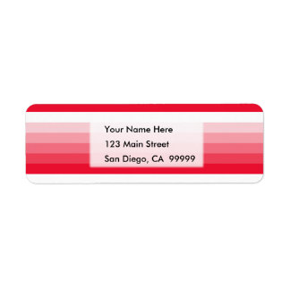 Gradient Square Red to White Return Address Label