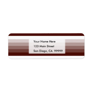 Gradient Square Rich Brown to White Return Address Label